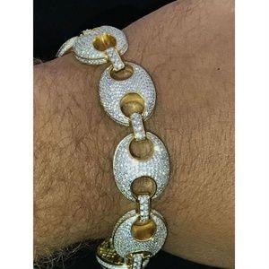 Mens Mariner Gucci Link Bracelet 14k Gold Over